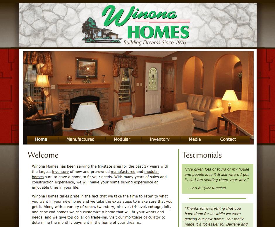 Winona Homes Website
