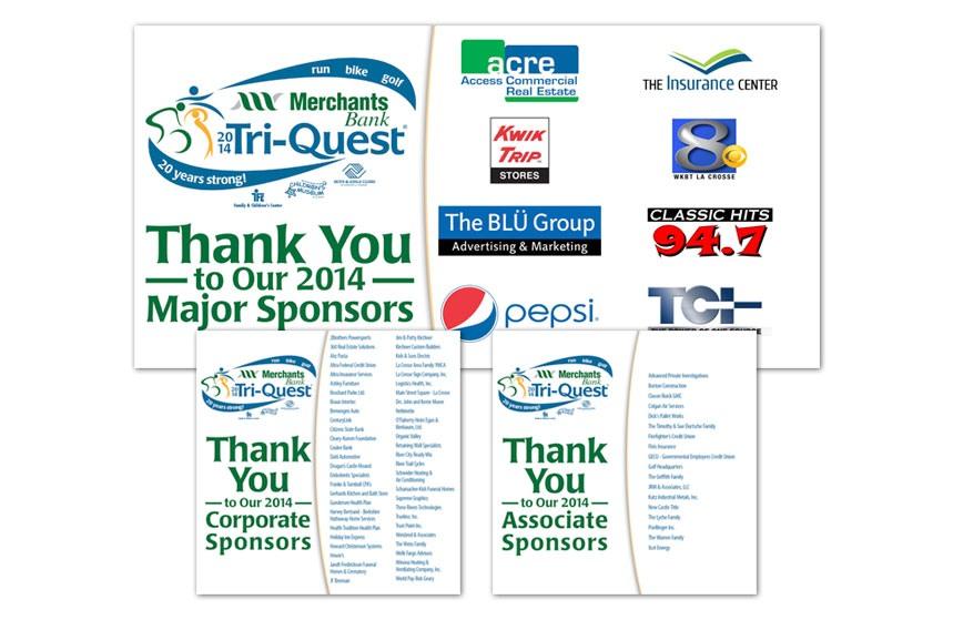 Tri-Quest Sponsor Signs