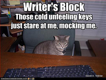 Cat with Writers Block