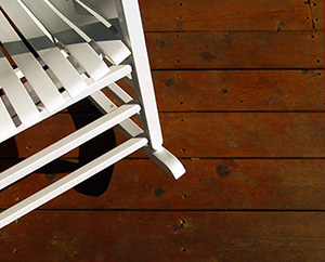 Chair on a deck - 300 PPI