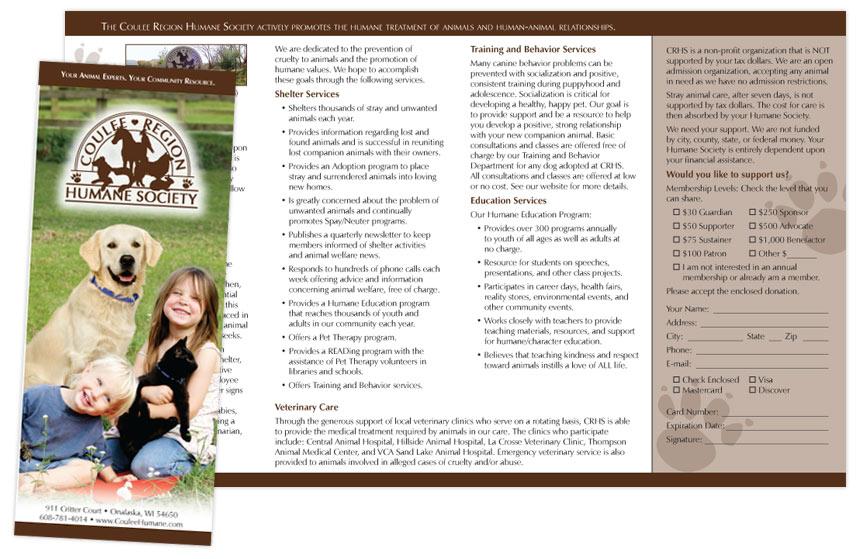 Coulee Region Humane Society Brochure