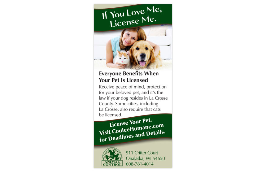 Coulee Region Humane Society Ad