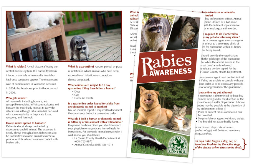 Coulee Region Humane Society Rabies Awareness Brochure