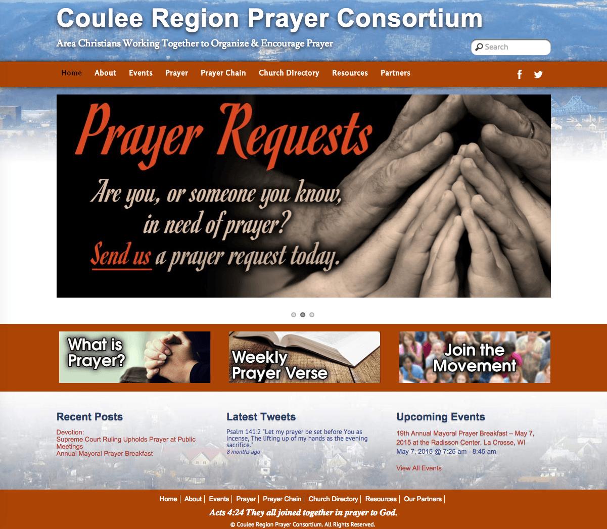 Coulee Region Prayer Consortium Website