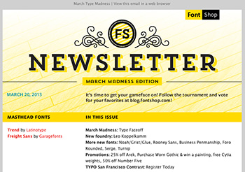 Font Shop Newsletter
