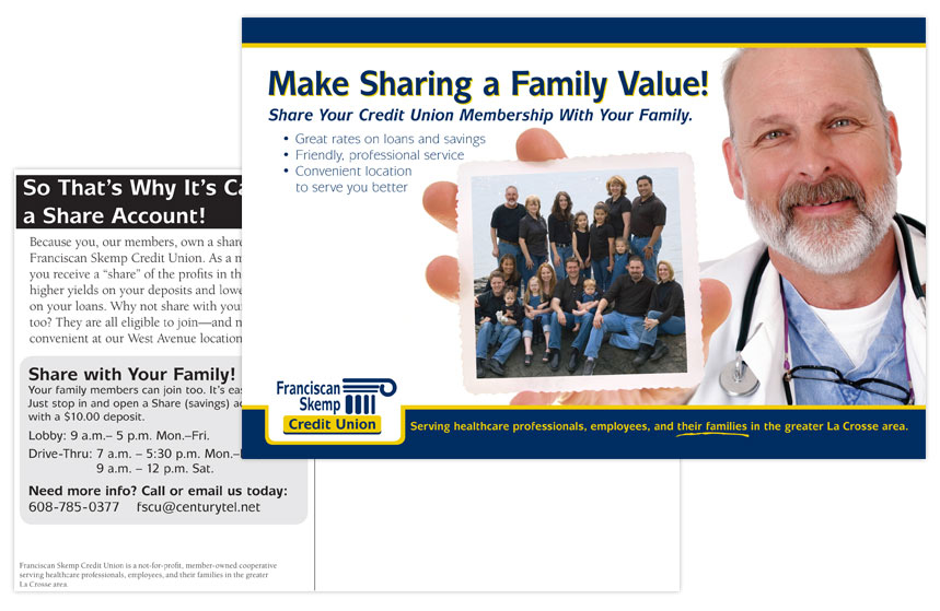 Franciscan Skemp Credit Union Family Membership Direct Mail