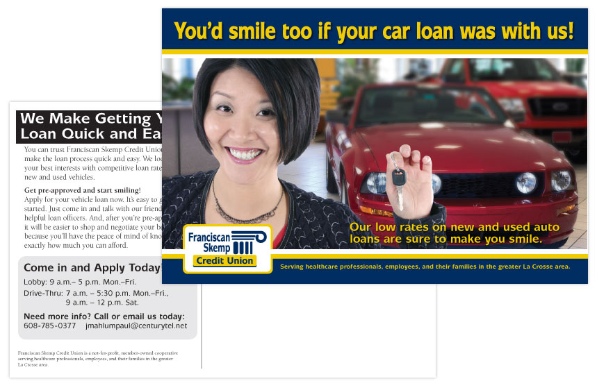 Franciscan Skemp Credit Union Auto Loan Direct Mail