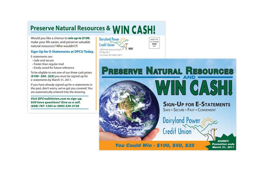 Dairyland Power Credit Union E-Statements Direct Mail