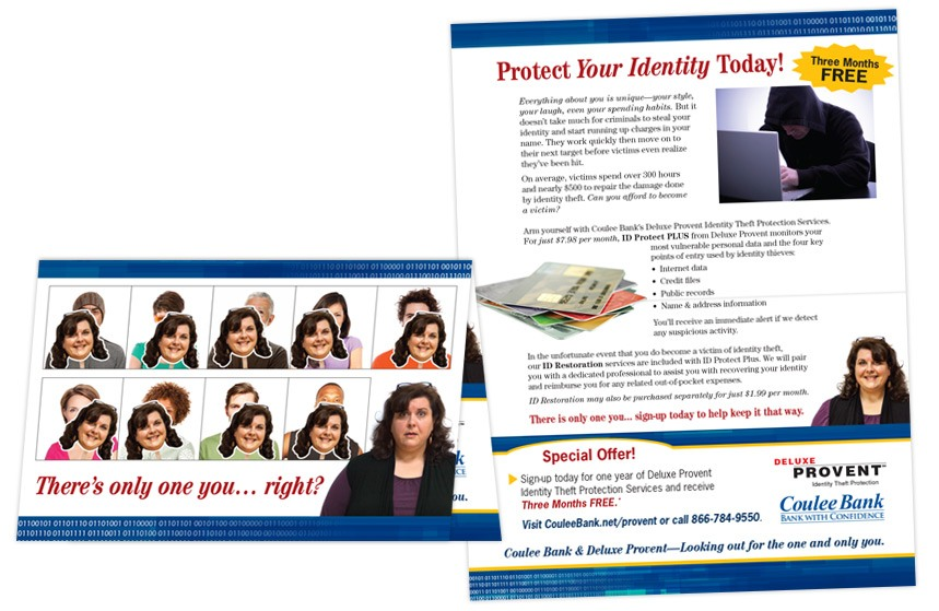 Coulee Bank ID Thieft Protection Direct Mail