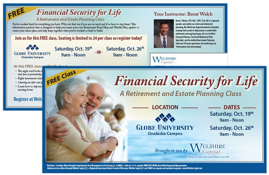 Welshire Capital Retirement and Estate Planning Direct Mail