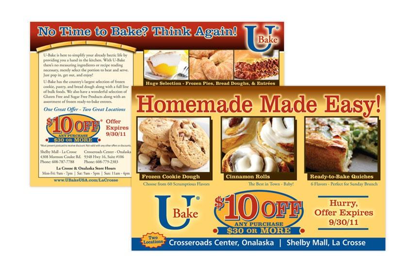 U Bake $10 off Direct Mail