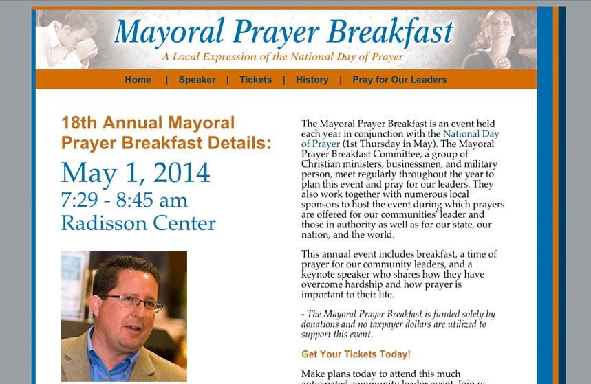 Mayoral Prayer Breakfast Website