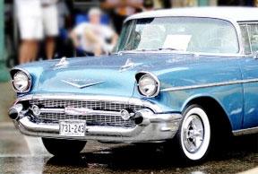 Winona Car Show - Blue Bel Air