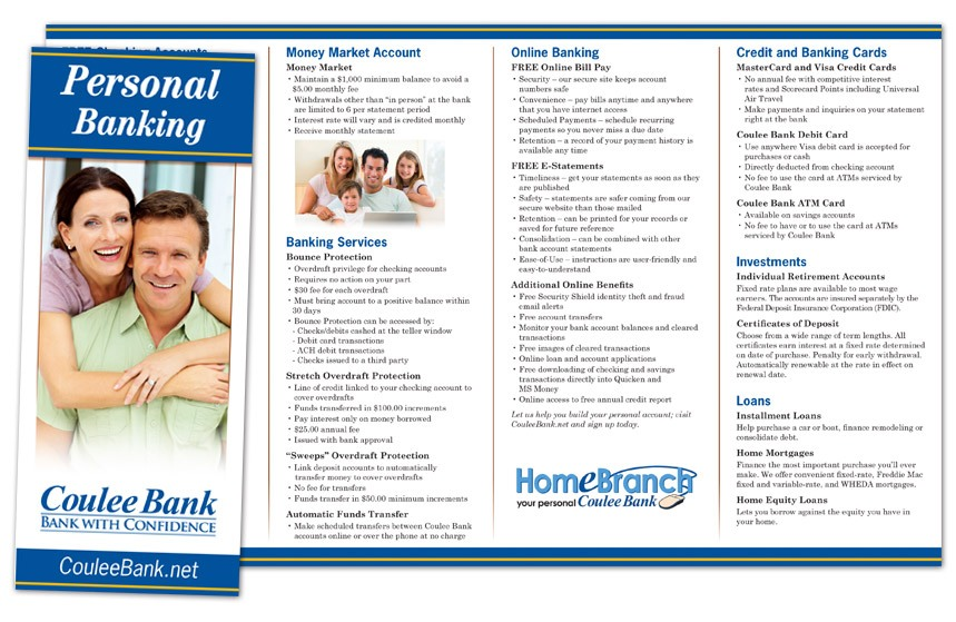 Coulee Bank Personal Brochure