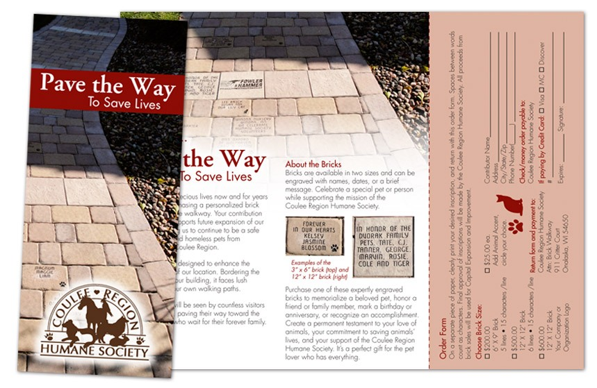 Coulee Region Humane Society Pave the Way Brochure