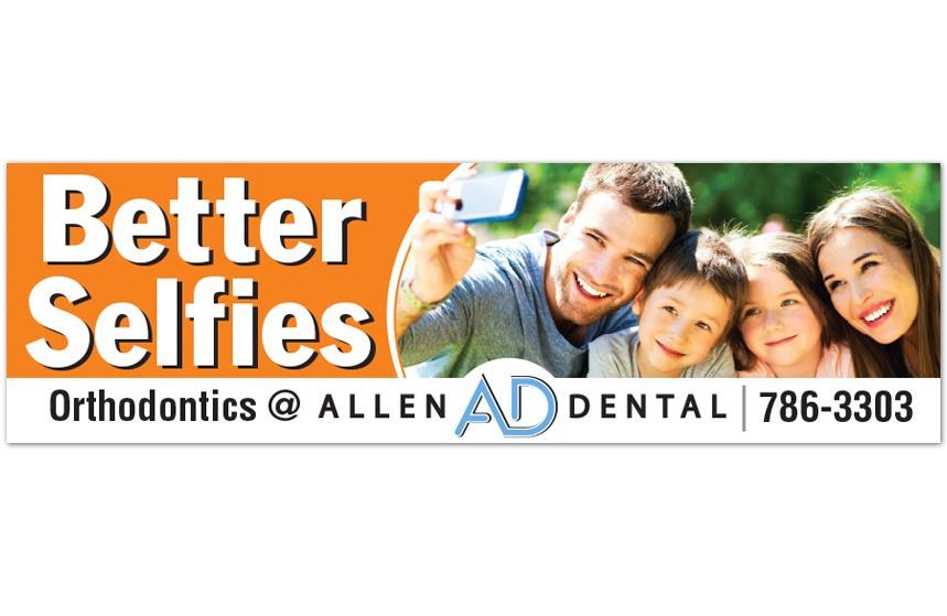 Allen Dental - Better Selfies Billboard
