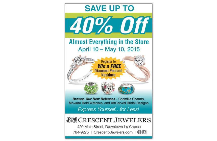Crescent Jewelers - Newspaper Ad