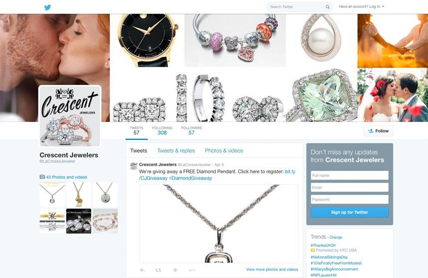 Crescent Jewelers - Twitter