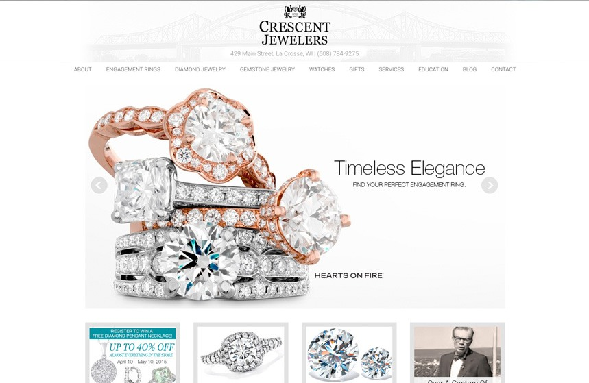 Crescent Jewelers - Website