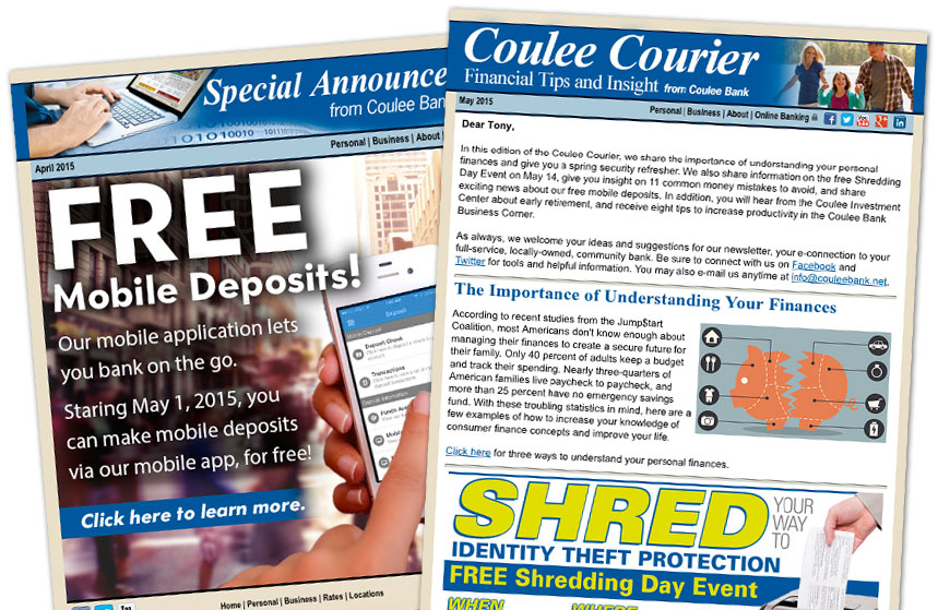Coulee Bank: E-Newsletter and E-Announcement