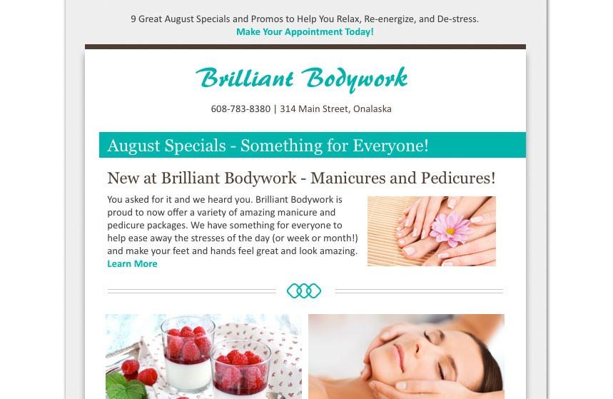 Brilliant Bodywork E-Newsletter Design