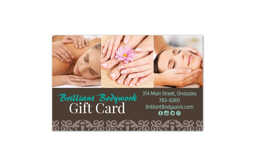 Brilliant Bodywork Gift Card Design