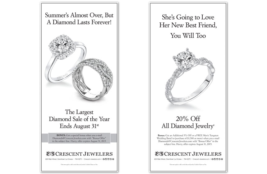 Crescent Jewelers - Full Page Newspaper Ad