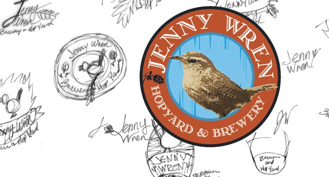 Jenny Wren - Hopyard & Brewery - Birth of a Logo