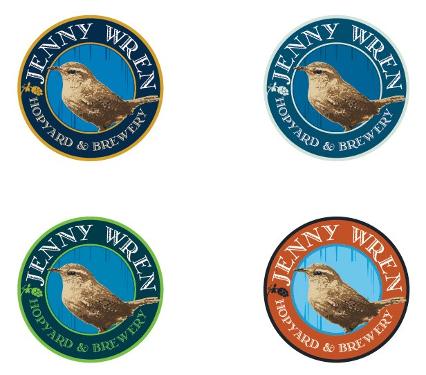 Jenny Wren - Logo Color Variations