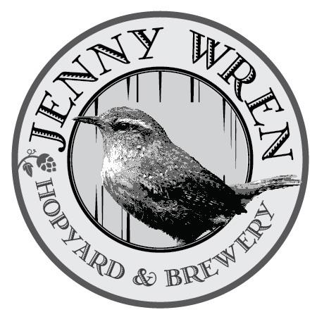 Jenny Wren - Final Grayscale Logo
