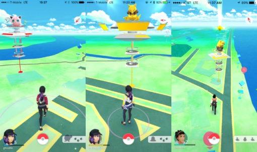 PokemonGo_ThreeGyms