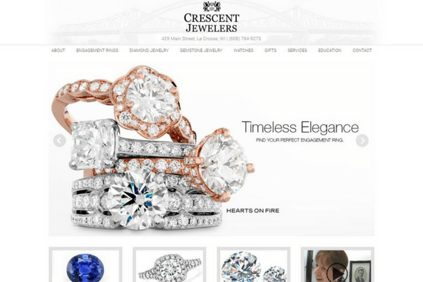 Jewelry Retailer Website Design