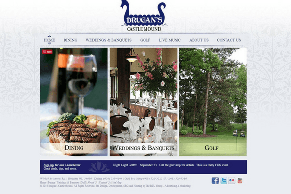 Golf Course & Banquet Website Design