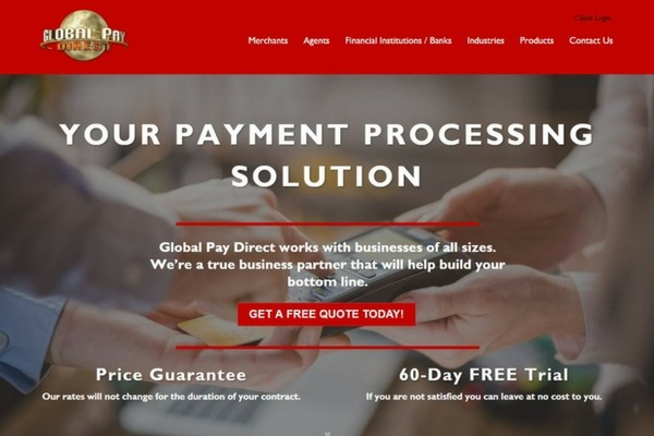 Payment Processing Website Design