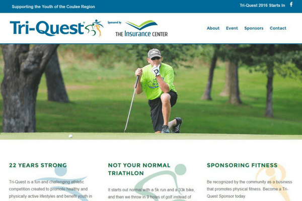 Sporting event web design in La Crosse, Wisconsin