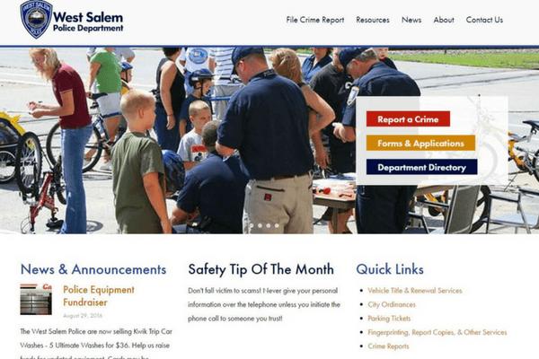 Website Design for Police Departments