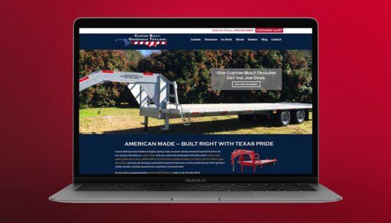 The BLÜ Group website design for Custom Built Gooseneck Trailers (trailer manufacturer).