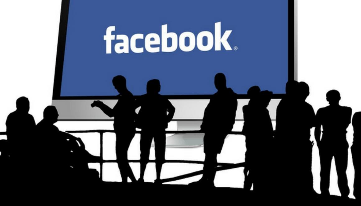 Facebook on a screen
