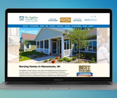 The BLÜ Group website design for The Neighbors of Dunn County (nursing home).