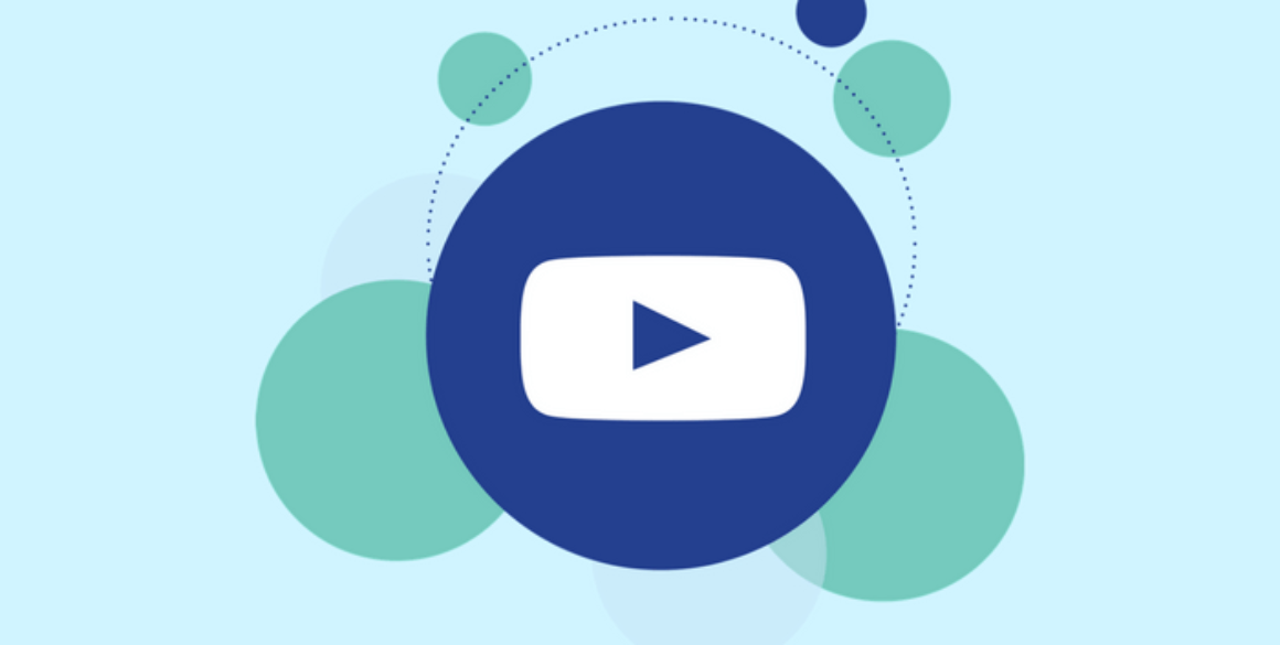 Youtube logo on top of circles