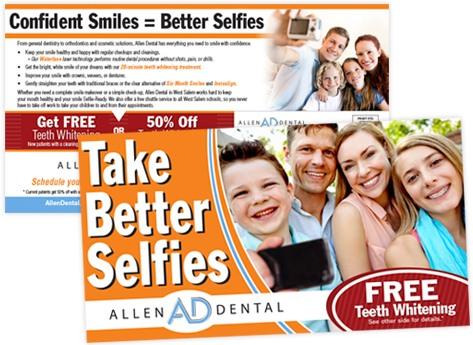 directMail dentist allenDental betterSelfies