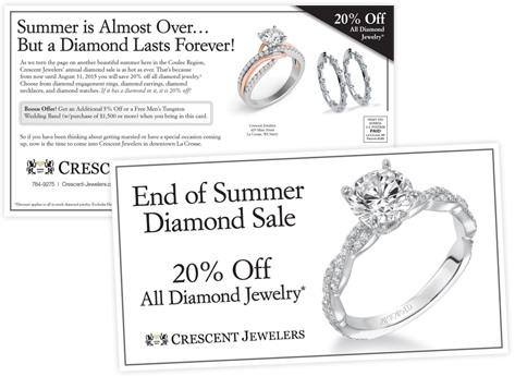 directMail jewelry crescentJewelers summerSale