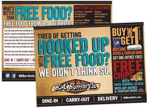 directMail restaurant baburrito coupons