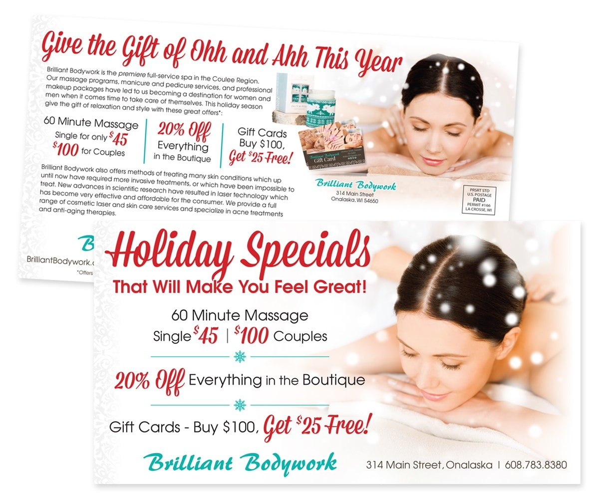 The BLÜ Group Client Work: Brilliant Bodywork - Holiday Specials Direct Mail