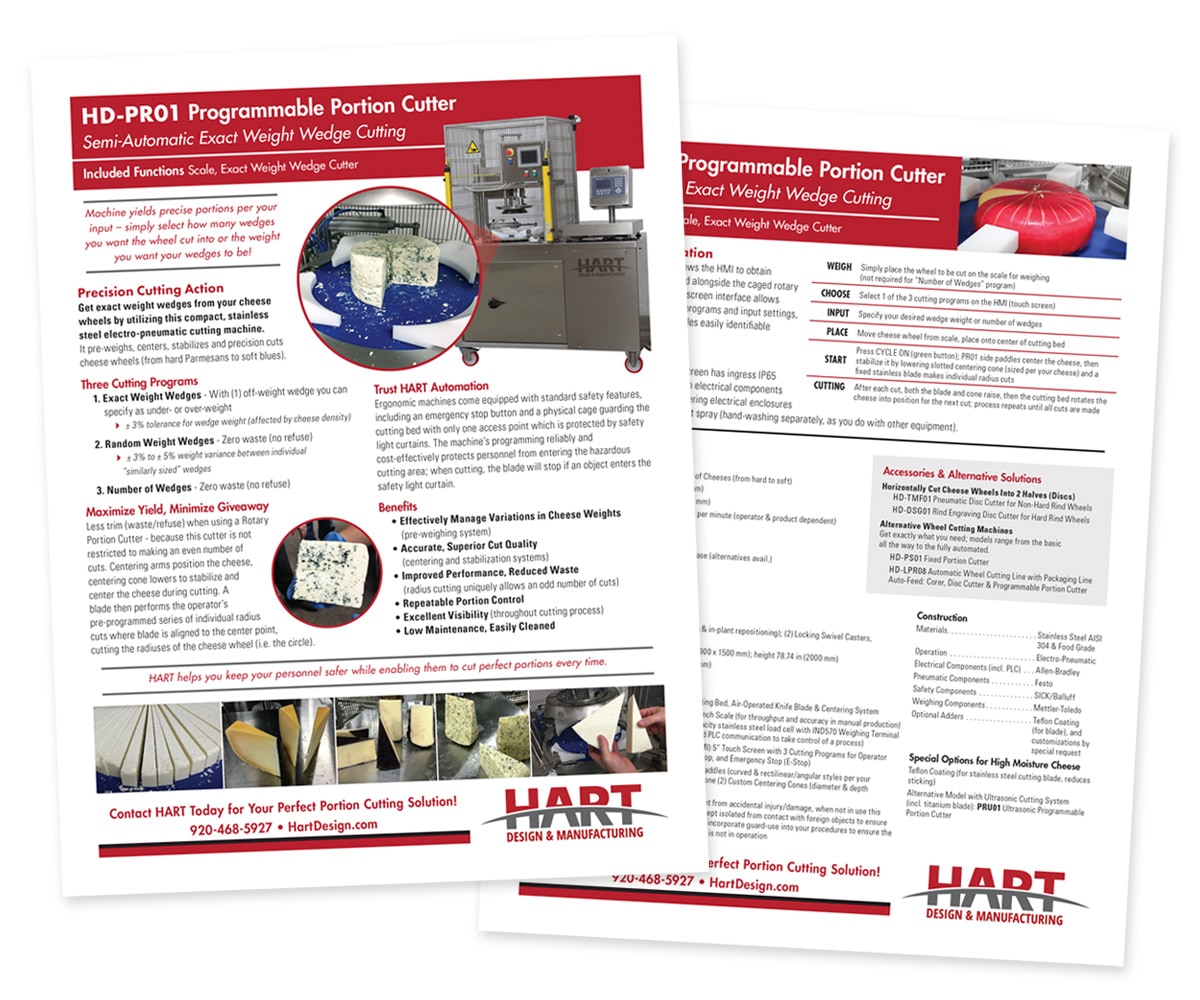 The BLÜ Group Client Work: HART - Sell Sheets