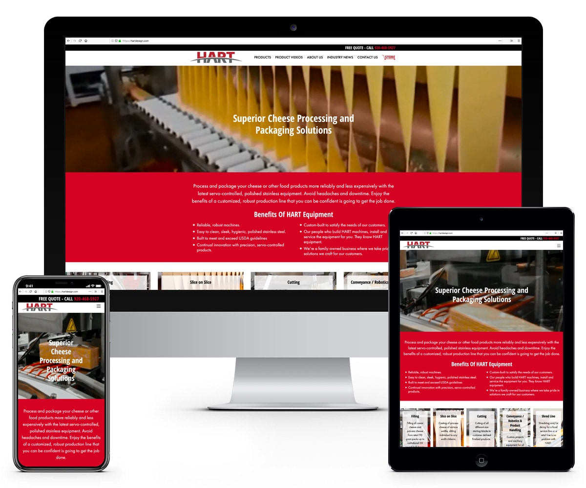 The BLÜ Group Client Work: HART - Responsive Website