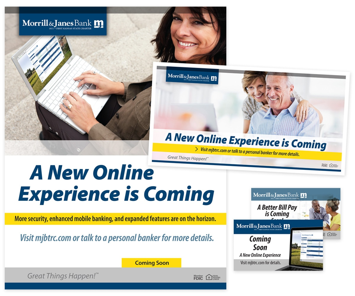 The BLÜ Group Client Work: Morrill & Janes Bank - Personal Online Banking Collateral