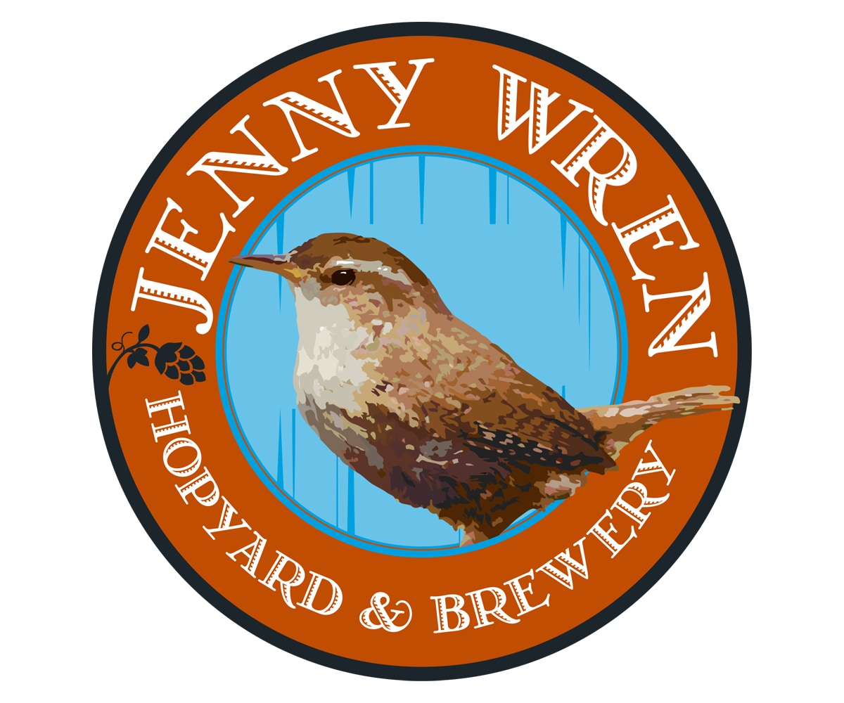 The BLÜ Group Client: Jenny Wren Hopyard and Brewery - Logo