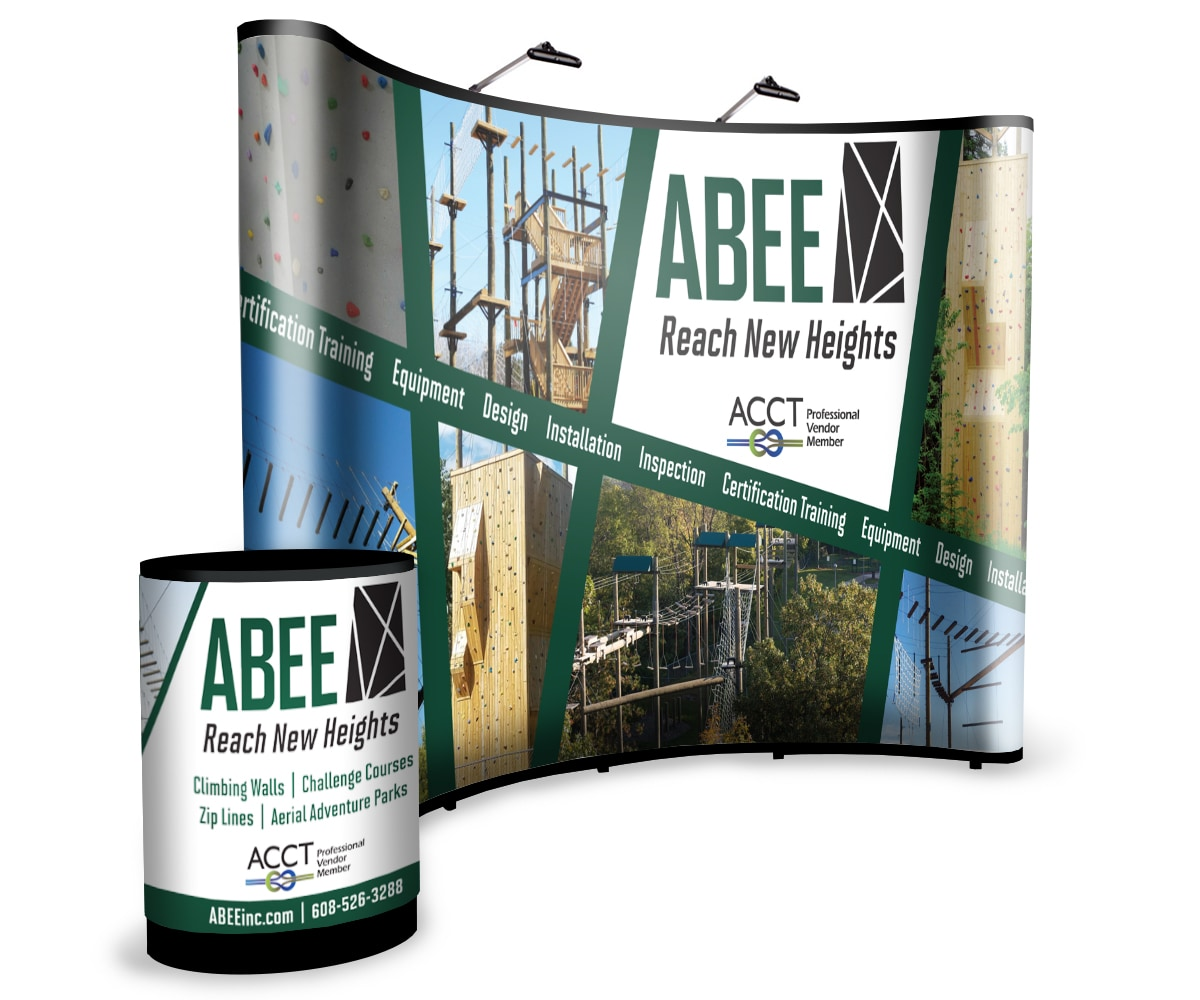 The BLÜ Group Client Work: ABEE Tradeshow Booth and Podium Case
