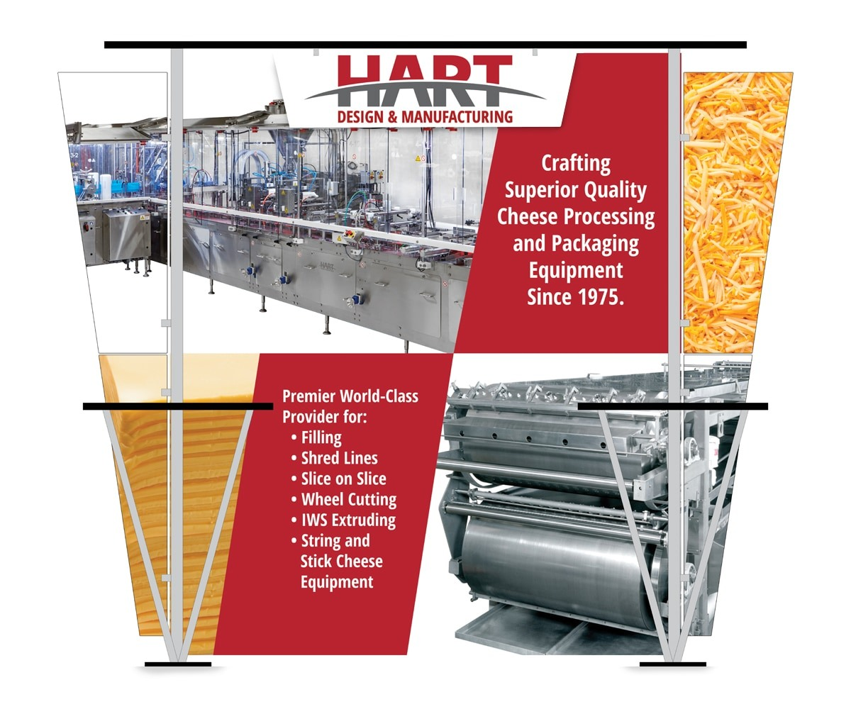 The BLÜ Group Client Work: HART Design & Manufacturing Tradeshow Booth with Attached Tables